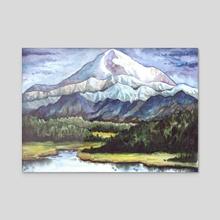 Denali Landscape - Acrylic by Emily Martin