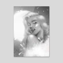 Diva - Acrylic by Klaudia Kazecka