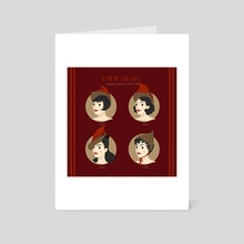 Durm Hairstyles and Witch Hats throughout decades - Art Card by Alice Negri