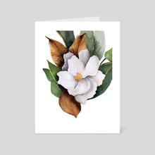 Magnolia III - Art Card by Paulina Navarro