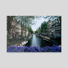 Charming Amsterdam - Canvas by Alex Tonetti