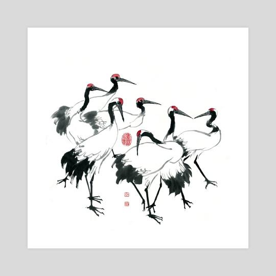 Cranes - 5 by River Han