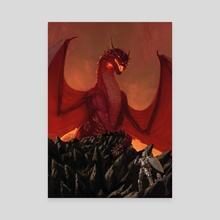 Lair of the Ruby Dragon - Canvas by Claudio Pozas
