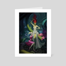 Poison Ivy x Harely Quinn  - Art Card by Castonia