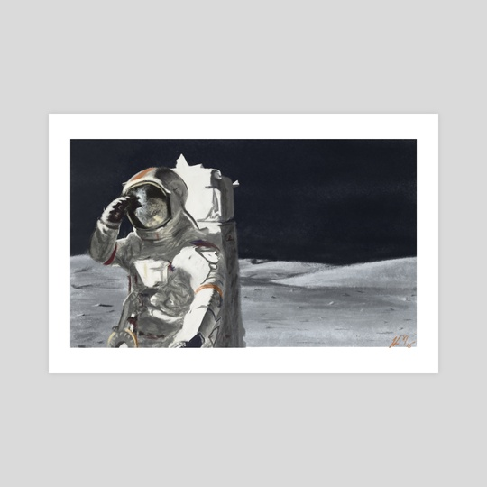 Neil Armstrong (Study) by Josue Ledesma