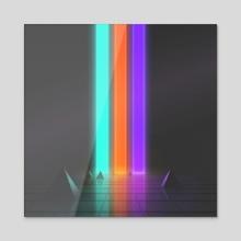 Lines II - Acrylic by Jordan Grimmer