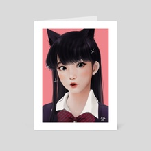 Surprised Komi-san - Art Card by Jubi