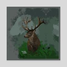 Dark forest - Canvas by Aurealis Creatief