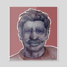 Mario (muted) - Acrylic by Nicholas Ross