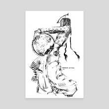 Manipura Meditation - Canvas by Christian Alexander