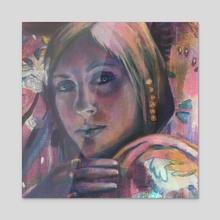 Pinkest - Acrylic by Anna Runnalls