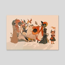 All Hallows' Eve Parade - Acrylic by Christin Engelberth