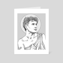 Dan Howell as Apollo Belvedere drawing - Art Card by Xanthe P Russell