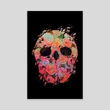 Skull Roses - Canvas by sarod mahakiattikhun