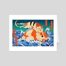 Catching Koi Fish - Art Card by Jake Giddens