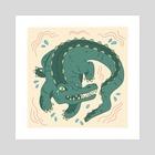 Anxiety Alligator  - Art Print by Sarah Trautman