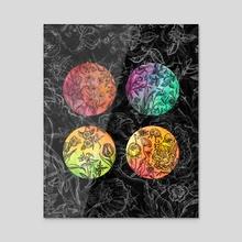 A Seasonal Bouquet - Acrylic by Misha Farris