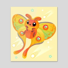 Comet moth - Acrylic by pikaole