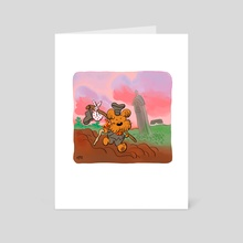 doggie dog traveler - Art Card by George Mager