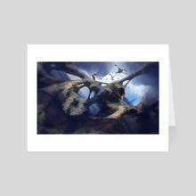 Dragon Mountain - Art Card by Boti Harko