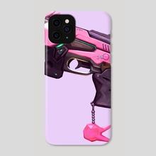 Baby D.va Pistol - Purple - Phone Case by Ashley Brielle