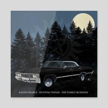 Supernatural Impala - Acrylic by Gabriel Neila