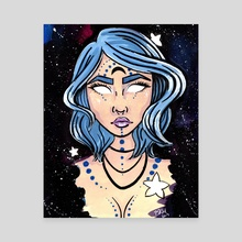 Galaxy Goddess - Canvas by Brittany  Moselina