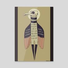 Bird man - Acrylic by Bern Lehtinen