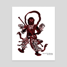 Chinese zodiac sign, Year of the Monkey - Canvas by YaeJun KIM