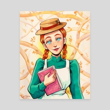 Anne Shirley - Canvas by Luz Tapia