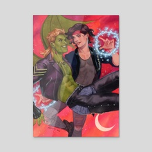 Hulkling and Wiccan: The Lost Boys - Acrylic by Kevin Wada