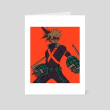 bakugou - Art Card by Afternoontm