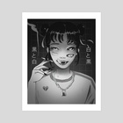 CUTEST GIRL - Art Print by Jyokai_