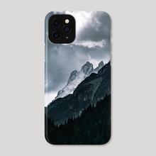 Winter Mountainscape - Phone Case by Luigi Veggetti