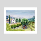 French vineyard - Art Print by Carl Conway