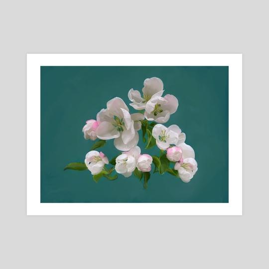 Sidewalk Plants - Paradise Apple Blossom by Mandy Jacek