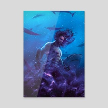 Aquaman - Acrylic by Marischa  Fanarts