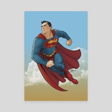 The Man Of Steel - Canvas by Aldo Marcelo Vitacca