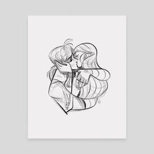 Just Kiss - Canvas by Alexa Cordeiro
