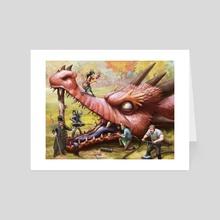 The Dragon Dentists - Art Card by Tom McGrath