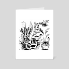 House plants. flowers, gardening. Plant mama. - Art Card by Sentimental Postman