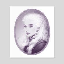 Daenerys - Acrylic by Maria Dimova
