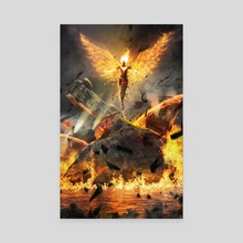 Dark Phoenix Rises  - Canvas by Kode Subject