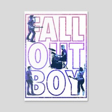 Fall Out Boy - large typography poster - Acrylic by Birgitte Johnsen