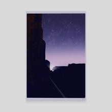 Night Rocks - Canvas by Olivia D
