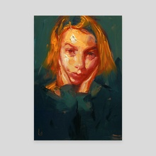 Orange Wedge - Canvas by John Larriva