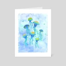 Swirly Jellyfish - Art Card by Carolina Matthes