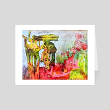 The Arrival Of The Beasts - Art Card by Tom Smith