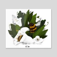 Bee Friendly - Acrylic by Augusto  Santana