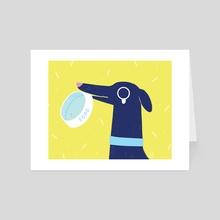 Hungry Dog - Art Card by Bree Lundberg